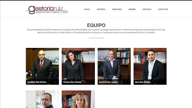 Website Gestoria Ruíz